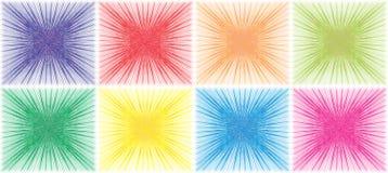 färgfyrkanter Arkivbild