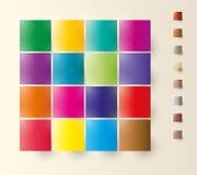 Färgfyrkanter Royaltyfri Fotografi
