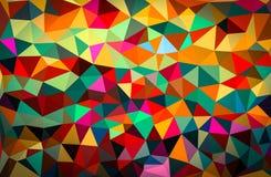 Färgglad abstrakt geometrisk bakgrund med triangulära polygoner Arkivbild