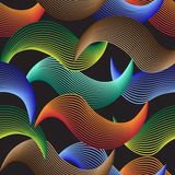 Färgglad abstrakt vågbakgrundstegelplatta royaltyfri illustrationer