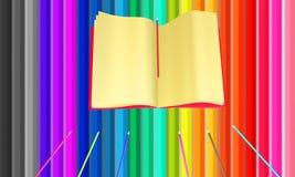 Färgglad bakgrund från blyertspennor stock illustrationer