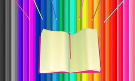 Färgglad bakgrund från blyertspennor vektor illustrationer