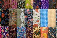 färgglad batik Arkivbilder