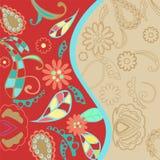 Färgglad blom- bakgrund Royaltyfri Fotografi
