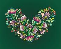 Färgglad blommahjärta Fotografering för Bildbyråer
