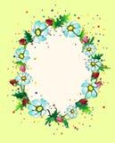 Färgglad blommaram Royaltyfri Fotografi