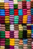 Färgglad bomull Fotografering för Bildbyråer