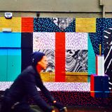 Färgglad Brighton väggmålning Arkivbild