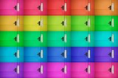 färgglad dörr för bakgrund Arkivfoton