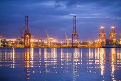 Färgglad Durban hamn Sydafrika Fotografering för Bildbyråer