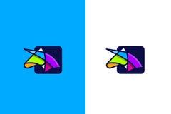 Färgglad enhörning stock illustrationer