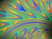 Färgglad flödande fractal Fotografering för Bildbyråer