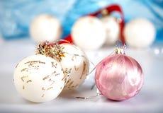 färgglad garnering för jul royaltyfri foto