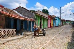 Färgglad gata i Trinidad Royaltyfri Foto