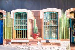Färgglad gatakonst Arkivfoto