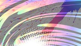 Färgglad grungeabstrakt begreppbakgrund, regnbågelutning, vektor arkivfoto