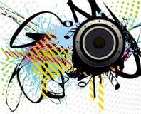 färgglad grungehögtalare Arkivfoto