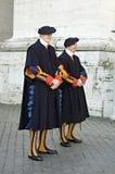 färgglad guardsitaly rome schweizare Arkivfoto
