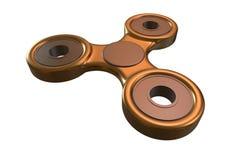 Färgglad guld- spänning för spinnare för finger för stålmetallrastlös människa, illustration för ångestlättnadsleksak 3d Royaltyfria Bilder