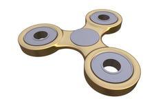 Färgglad guld- spänning för spinnare för finger för stålmetallrastlös människa, illustration för ångestlättnadsleksak 3d Fotografering för Bildbyråer