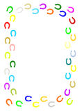 Färgglad hästskogräns. Arkivbild