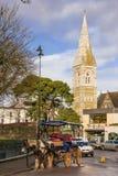 Färgglad hästvagn Killarney ireland Royaltyfri Fotografi
