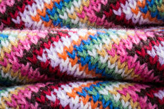 Färgglad halsduk för ull Arkivfoto