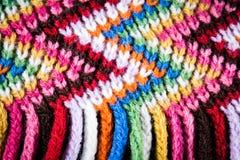 Färgglad halsduk för ull Royaltyfri Bild