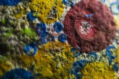 Färgglad hand målad sten royaltyfria bilder