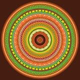 färgglad hennamandala Royaltyfri Fotografi