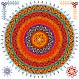 färgglad hennamandala för bakgrund Royaltyfri Foto