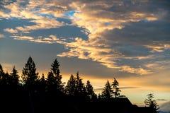 Färgglad himmel på solnedgången Royaltyfria Bilder