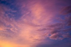 Färgglad himmelsikt Arkivbild