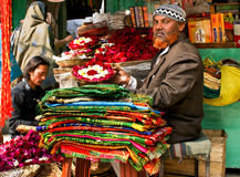 färgglad india stallgata Arkivfoton