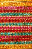 färgglad indier för bangles arkivbild