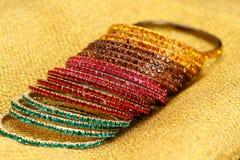 färgglad indier för bangles arkivfoto