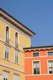 färgglad italienare för byggnader Royaltyfria Foton