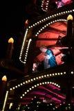 Färgglad julkarusell Royaltyfri Fotografi