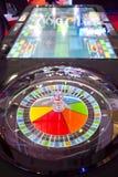 Färgglad kasinoroulett Royaltyfria Bilder