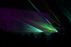 Färgglad laser-show Royaltyfri Fotografi