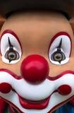 Färgglad le clownframsida Arkivbild