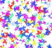 färgglad leaf Arkivfoton