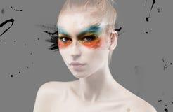 Färgglad makeup Royaltyfri Bild