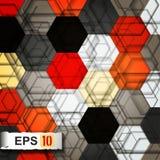 Färgglad modern geometrisk abstrakt bakgrund Royaltyfria Foton