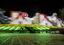 Färgglad nattetid för Wipeoutmunterhetritt royaltyfria foton