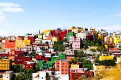 Färgglad Neighbourhood Arkivfoton