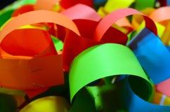 Färgglad pappers- kedja Arkivbild