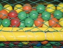 färgglad plastic lekplats för bollar royaltyfri foto