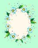 Färgglad ram som komponeras av tusenskönor Royaltyfria Bilder