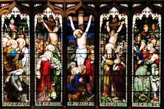 Färgglad sömlös panel för målat glassfönster i Edinburg Royaltyfri Fotografi